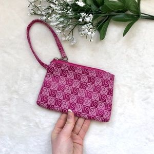 ✨3 for $35✨ zip-up wristlet coin purse w hearts